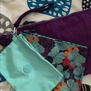 Kipling wristlet/cosmetic bags